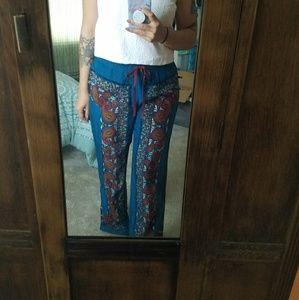Lucky Brand NWOT 100% silk pants